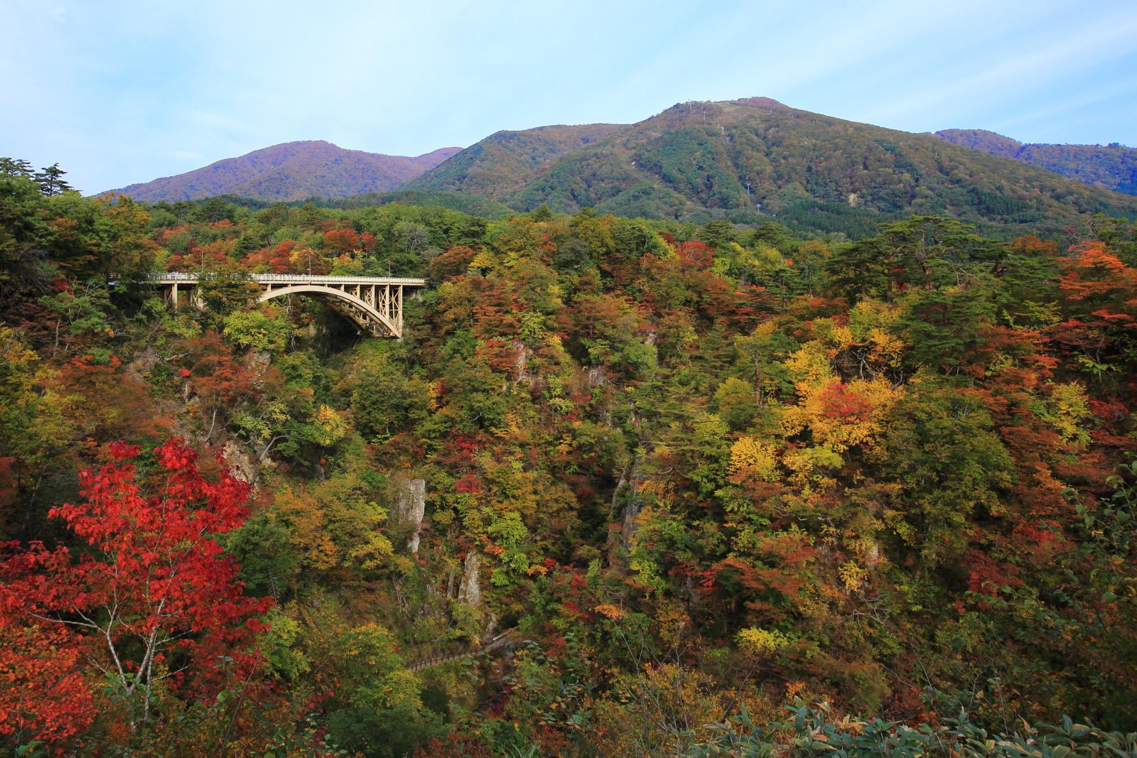 鳴子峡の紅葉。ちょっと早め